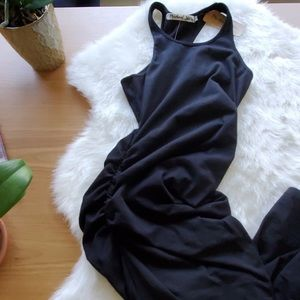 Michael stars black maxi dress racer back